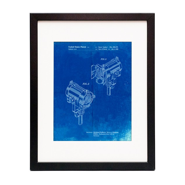 Stage Lights Patent Poster
