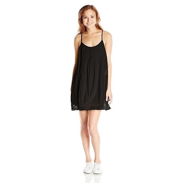 Volcom Junior's Love Bound Cami Dress, Black, Medium