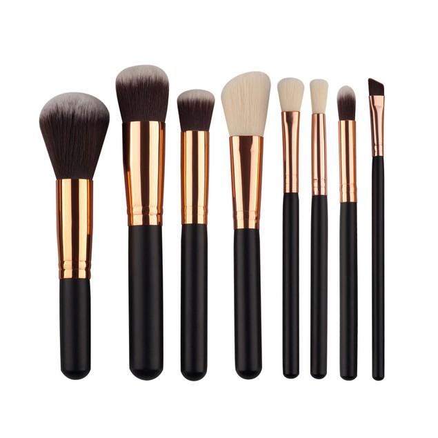 8Pcs Mini Cosmetic Eyebrow Eyeshadow Brush Makeup Brush Sets Kits Tools