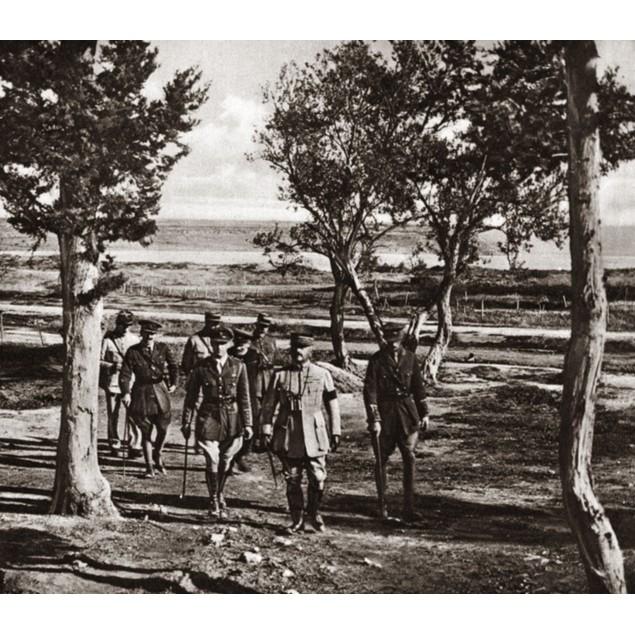 World War I: Dardanelles. /Ngeneral Franchet D'Esperey And His Staff Inspec