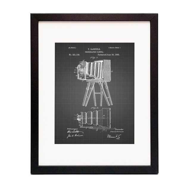 Photographic Camera 1885 Patent Poster