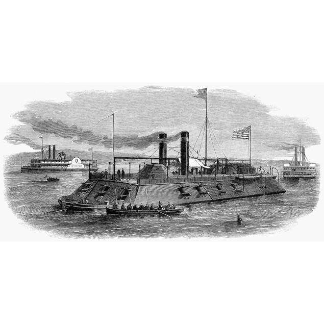 Civil War: Blockade, 1864. /Na Union Gunboat Enforcing The Blockade Of Conf