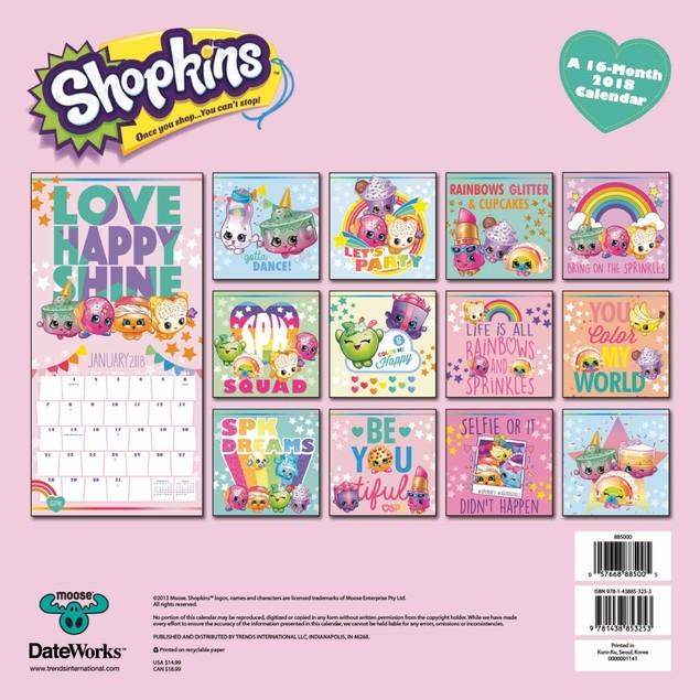 Shopkins 2018 Wall Calendar