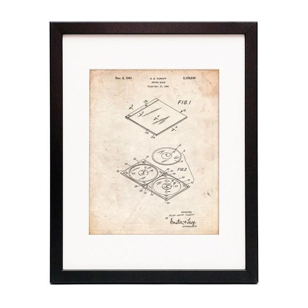 Record Album Patent Poster