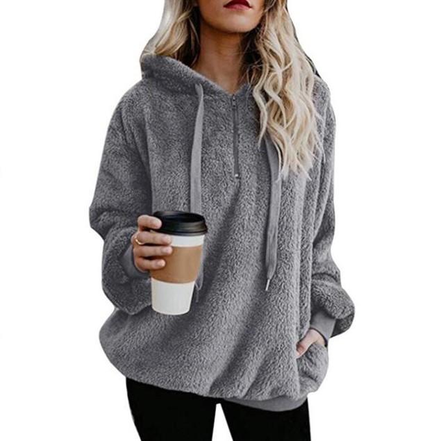 Plush Pullover Hoodie