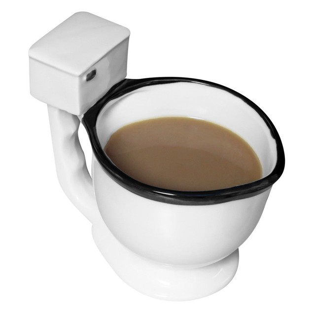 Toilet Mug Ceramic Coffee, Tea or Beverage Cup