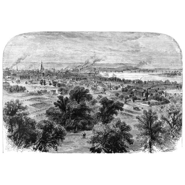 Louisville, C1870. /Nlouisville, Kentucky, Viewed From The Asylum For The B