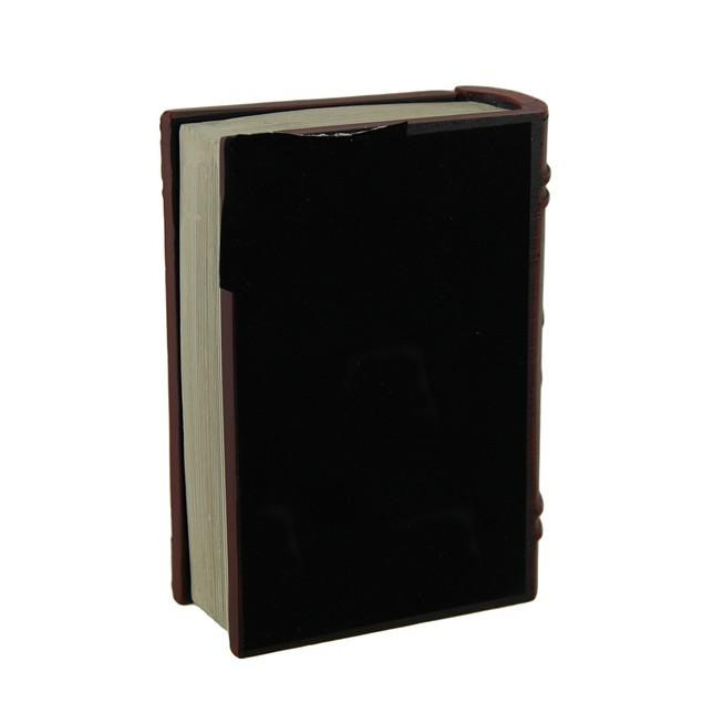 Dark Red Embossed Pentagram Book Look Trinket Box Decorative Boxes