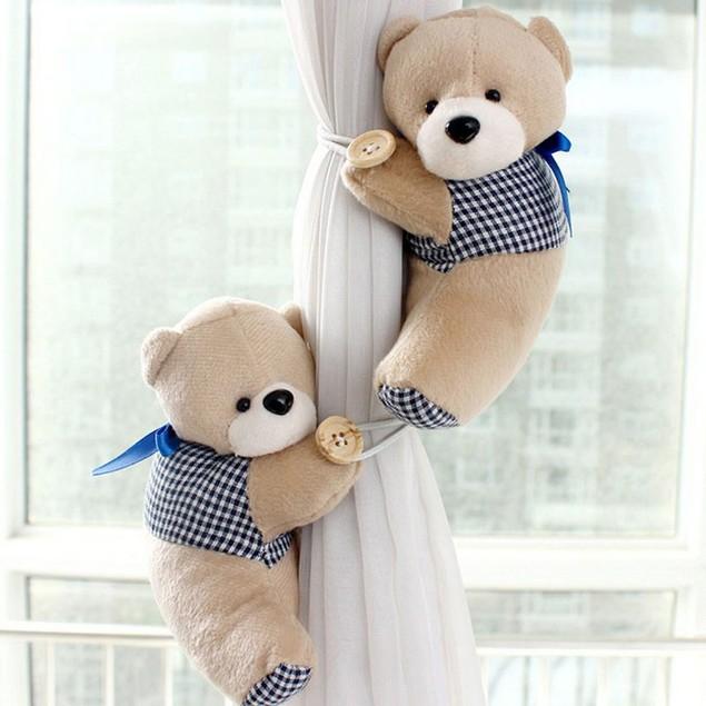 2-Pack Bear Window Curtain Tieback