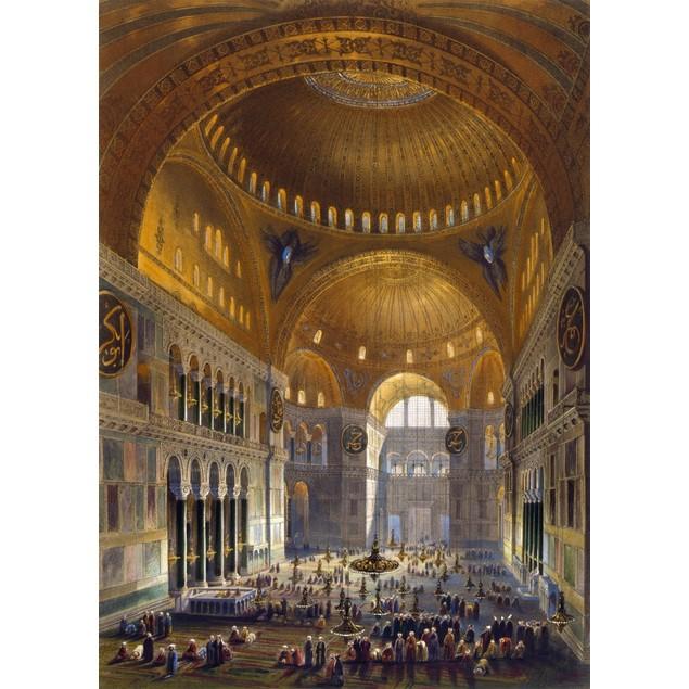 Turkey: Hagia Sopia, 1852. /Nthe Nave Of Hagia Sophia, Istanbul (Constantin
