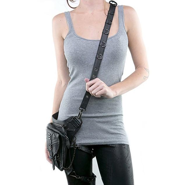Men Women Steampunk Retro Rock Gothic Shoulder Waist Bag