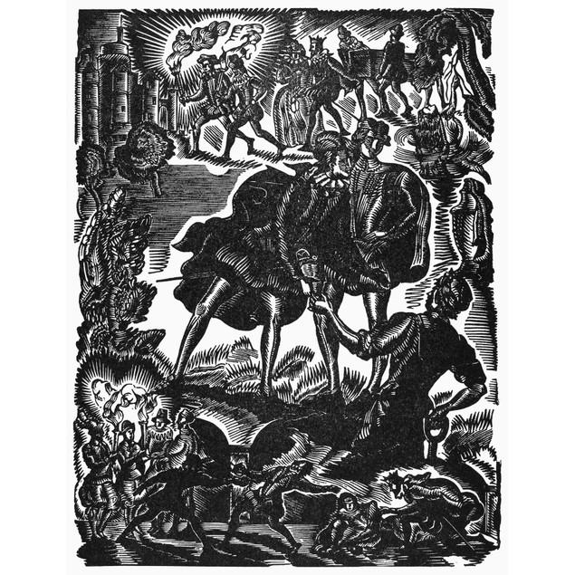 Shakespeare: Hamlet. /Nwood Engraving By Georges Tcherkessoff (1900-1943) F