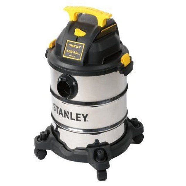 Stanley Wet/Dry Vacuum, 6 Gallon, Stainless Steel Tank