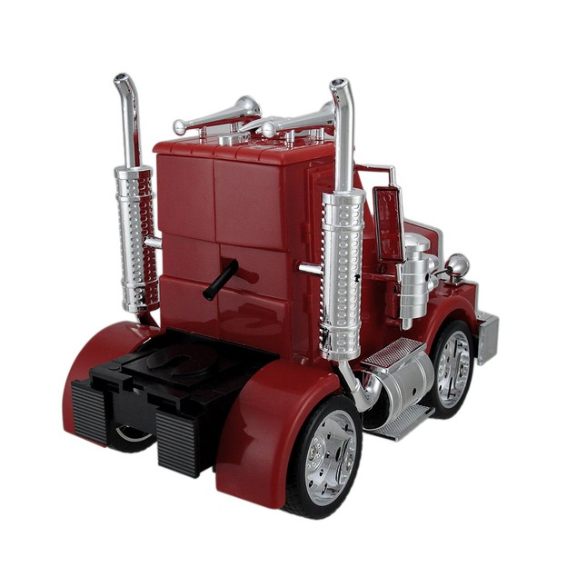 North American Big Rig Red Semi Truck Alarm Clock Alarm Clocks
