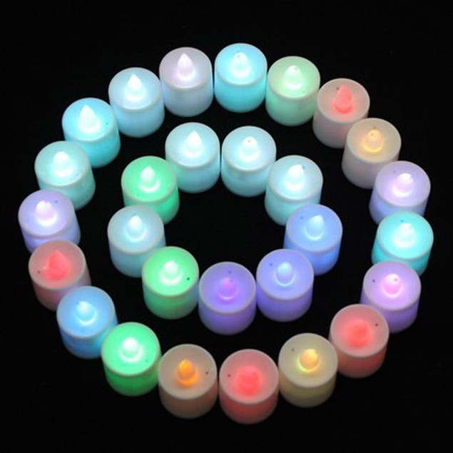 4pcs Mini Colorful Romantic Electronic Candle LED Light For Party Decorate