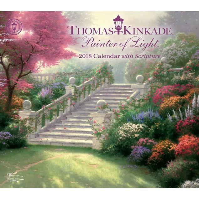 Kinkade Painter of Light Scripture Wall Calendar, Kinkade by Calendars