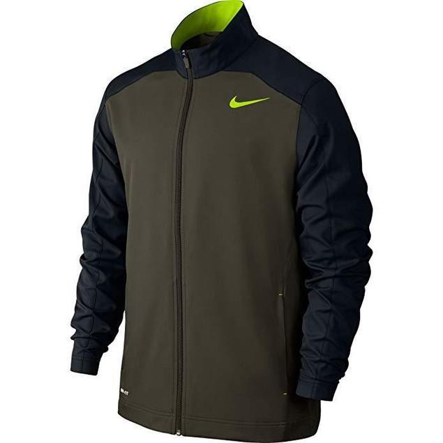 New New Nike Men's Team Woven Training Jacket Cargo Khaki SZ: S