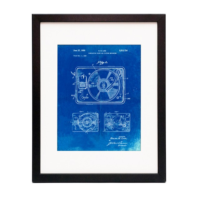 Record Player Patent Poster