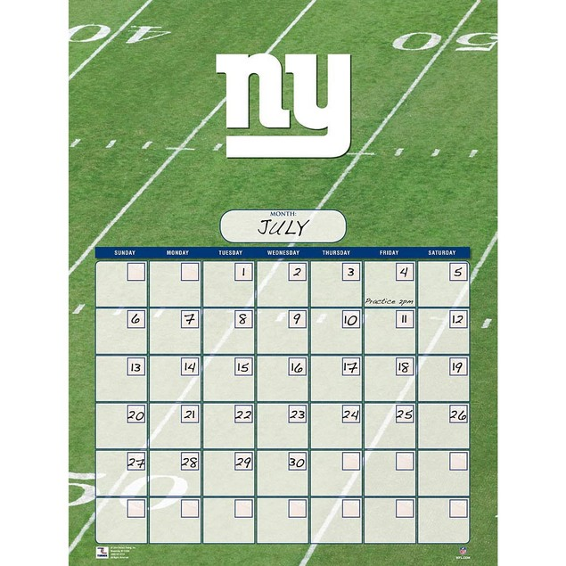 New York Giants Perpetual Calendar