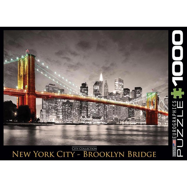 NYC Brooklyn Bridge 1000 Piece Puzzle, 1,000 Piece Puzzles by Eurographics
