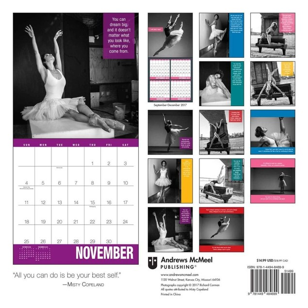 Misty Copeland Wall Calendar, Dance | Theatre by Andrews McMeel Publishing