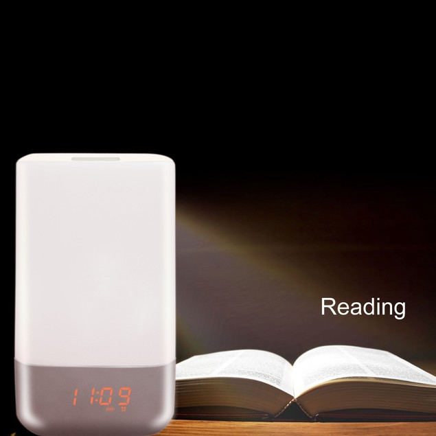 Bedside Touch Sensor Table Lamp Light Alarm Clock Wake-up Light