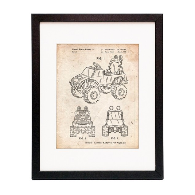 Kids Truck Patent Poster