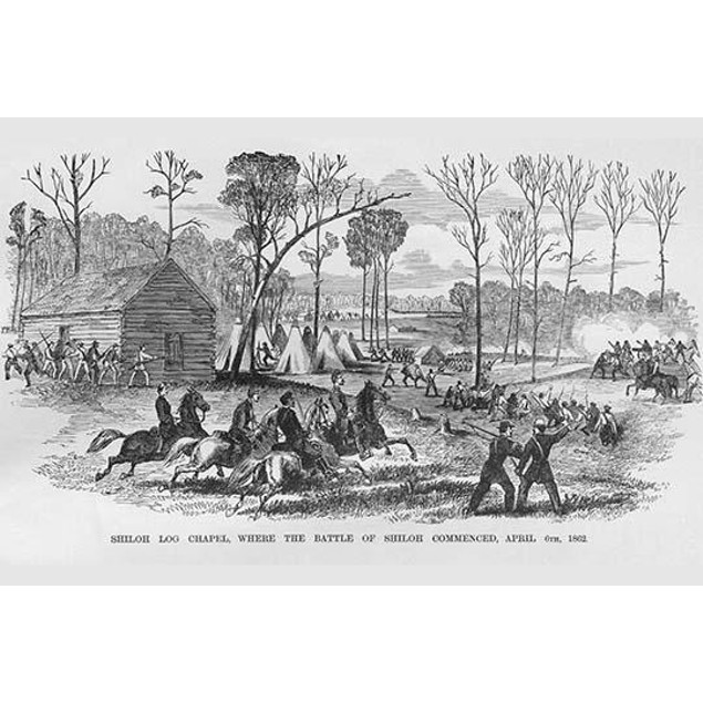 Log Cabin Chapel where the Battle of Shiloh Began Poster