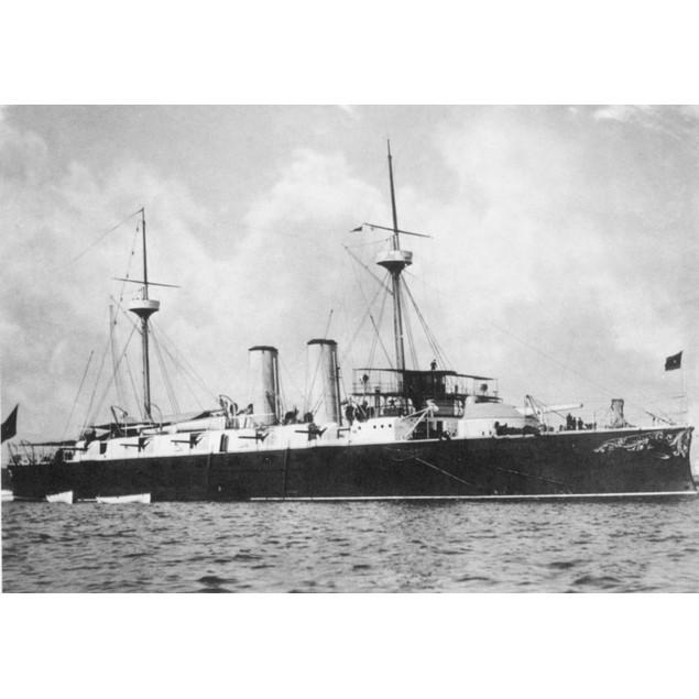 Spanish Warship, 1898. /Nthe Spanish Cruiser Infanta Maria Teresa, Flagship