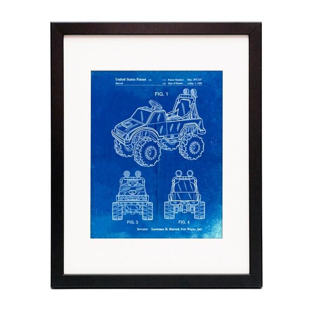 Kids Truck Patent Poster