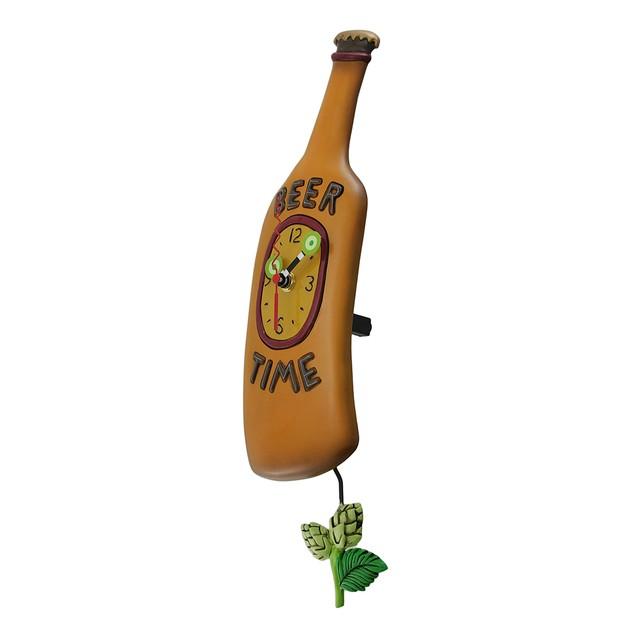 Allen Designs Beer Time Beer Bottle Pendulum Wall Wall Clocks