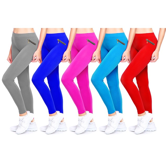 4-Pack Women's Fashion Leggings - 6 Style Options
