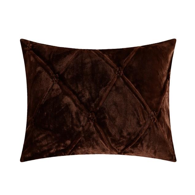 Chic Home Joshua Pinch Pleated Sherpa Comforter Set