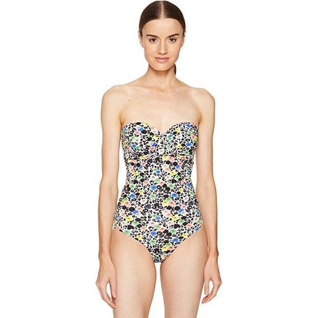 Paul Smith Women's Poppy Floral Cupped Swimsuit Floral Swimsuit Sz: XL