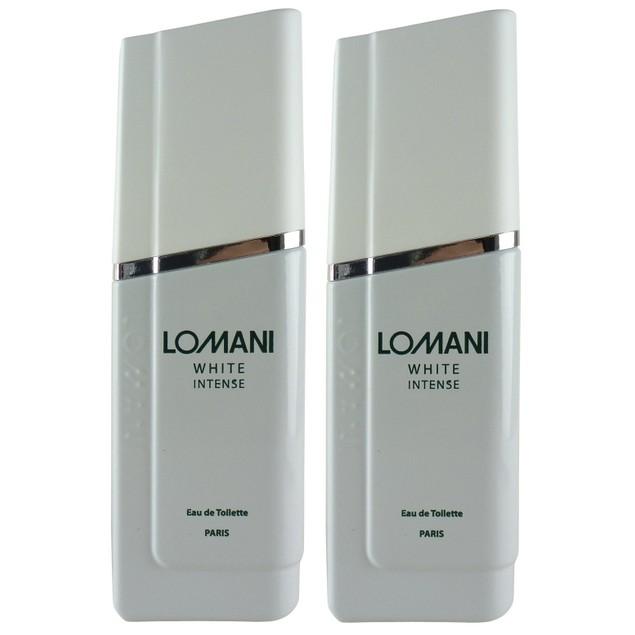 2-PACK Lomani White Intense EDTSpray Cologne for Men, 3.3 oz. each (6.6