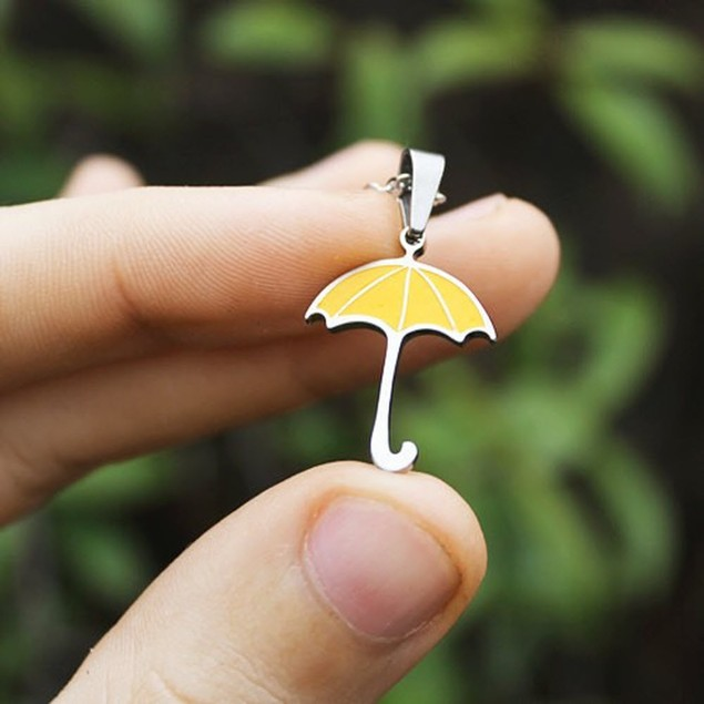 You're My Yellow Umbrella Necklace