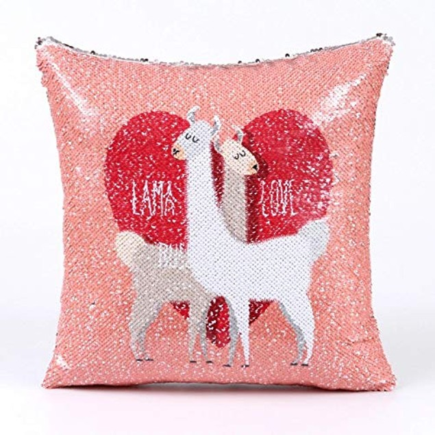 Pillow Case Handmade Reversible Sequin Magic Cushion Hypoallergenic Pillow