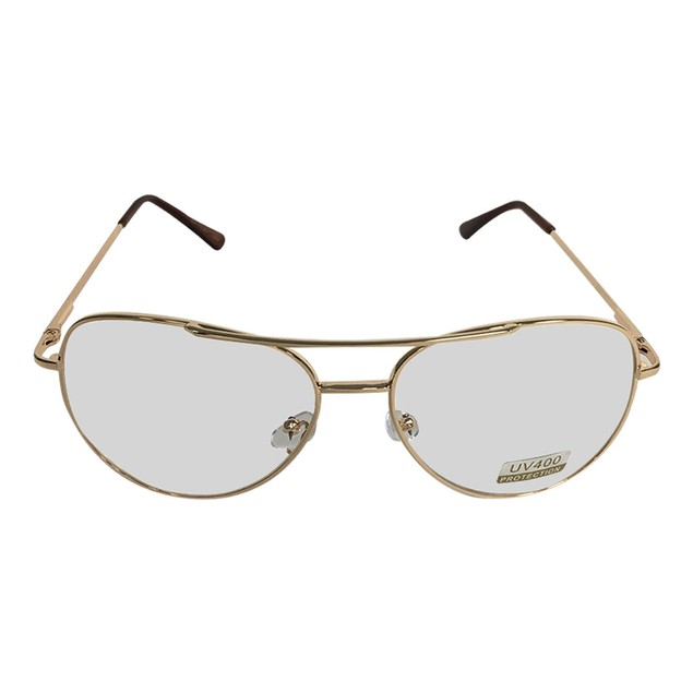 Gold Frames With Clear Lens Aviator Glasses Napoleon Dynamite Bill Lumbergh