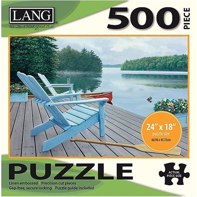 Lakeside Retreat 500 Piece Puzzle, Journals and Housewares by Lang Companie
