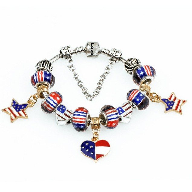 American Love Charm Bracelet