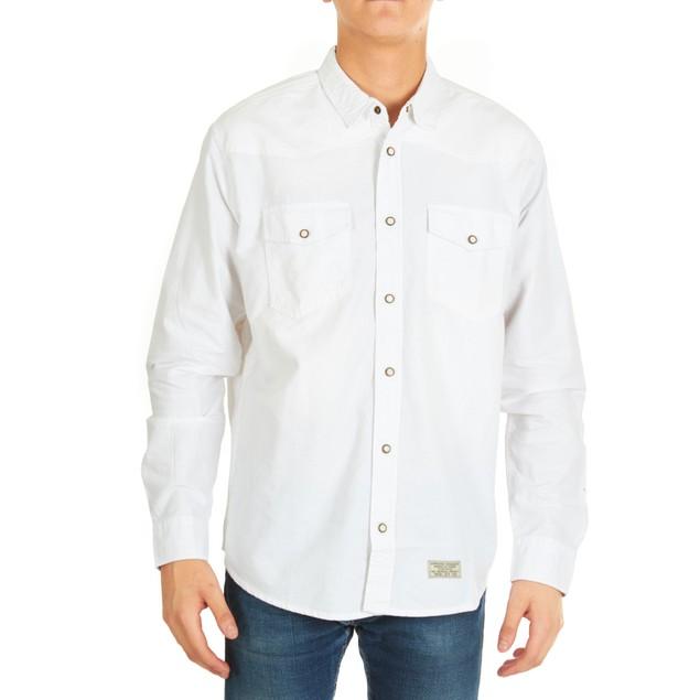 3-Pack Men's 2-Pocket Long-Sleeve Denim Button Down Shirts
