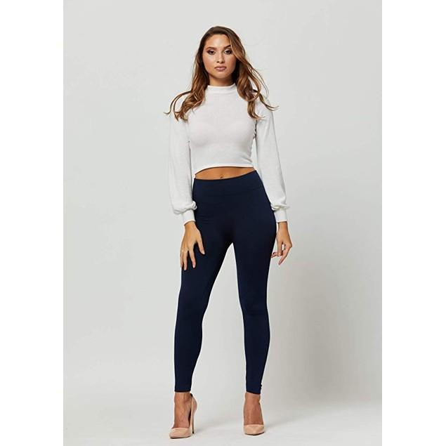 6-Pack Women's Basic Premium Fleece-Lined Leggings