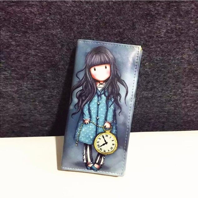 Women Cartoon Graffiti LORI Girl Long Purse Wallet Handbag