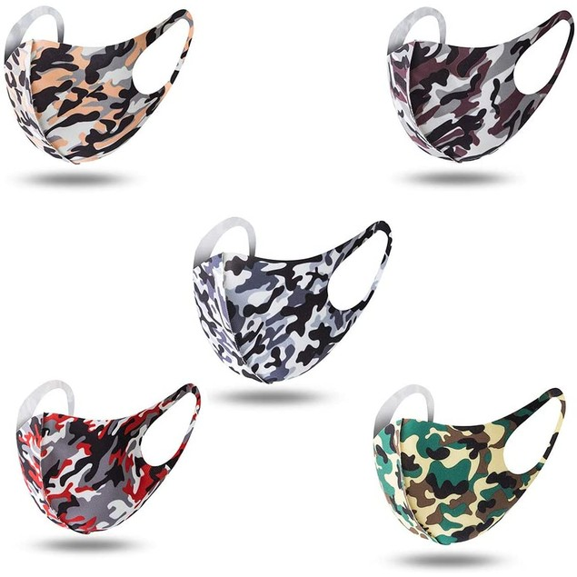 5-Pack Camo Reusable Non-Medical Face Masks
