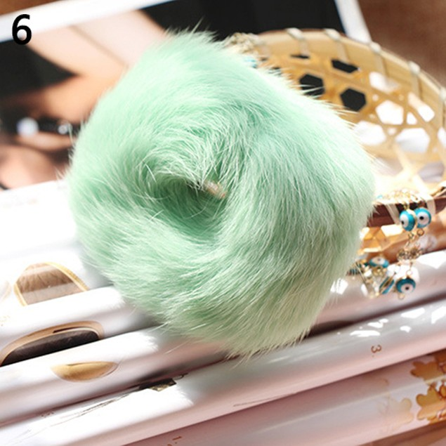 Fashion Soft Faux Fur Scrunchie Solid Hair Rope