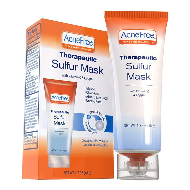 AcneFree Sulfur Mask 1.7 oz Acne Treatment for Clearing Acne.