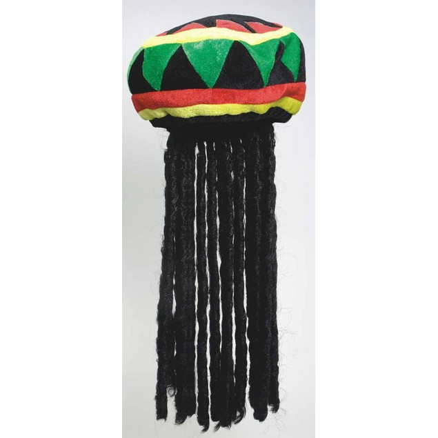 Dreadlocks Wig With Rasta Tam Hat