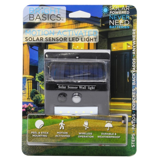 2-Pack Bright Basics Solar Outdoor LED Lights