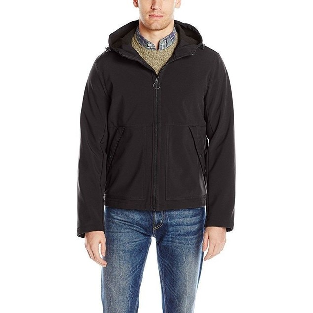 GH Bass Men's Campsite Hoody Bomber Jacket, Black, SZ: XL