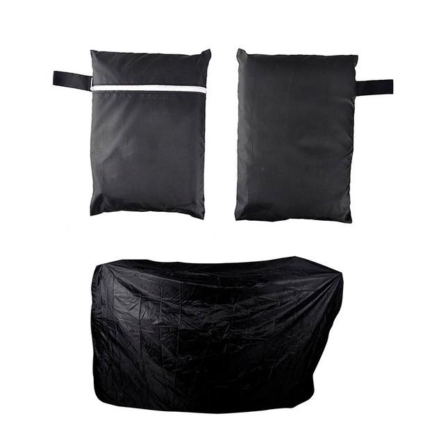Black Waterproof Bbq Cover